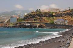 Küste von Insel des vulkanischen Ursprung Puerto de la Cruz, Teneriffa, Spanien Lizenzfreie Stockbilder