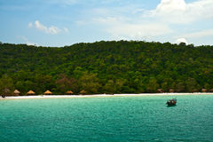 Insel-KOH Rong Samloem, Kambodscha Stockfotos