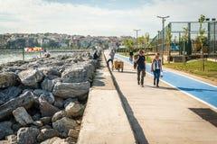 Küste von Istanbul, die Türkei Lizenzfreies Stockbild
