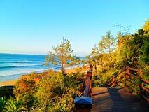 Küste von Jeju-Insel, Südkorea Lizenzfreie Stockfotos