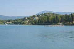 Küste von Korfu Lizenzfreies Stockfoto
