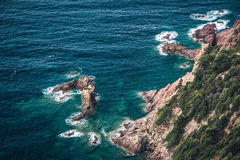 Küste von Korsika Stockfotografie