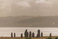 Küste von La Coruna, Spanien lizenzfreies stockfoto