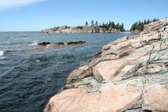 Küste von Lake Superior Stockfoto