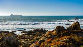 Küste von Leça DA Palmeira Lizenzfreies Stockfoto