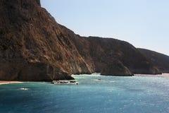 Küste von Lefkas-Insel Lizenzfreies Stockfoto