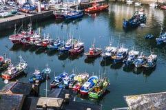 Küste von Luarca in Spanien Lizenzfreie Stockbilder
