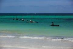 Küste von Mombasa, Kenia, Ozean, Wolken, Küste Stockbild