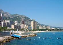 Küste von Monte Carlo Stockbilder