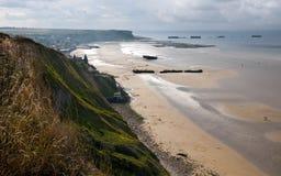 Küste von Normandie lizenzfreies stockfoto