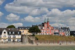 Küste von Normandie lizenzfreies stockbild