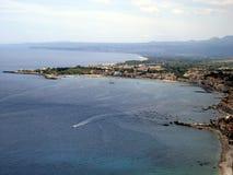 Küste von oben Lizenzfreie Stockfotos