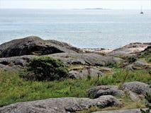 Küste von Ostsee in Finnland lizenzfreies stockbild