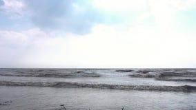 Küste von Ostsee am sonnigen Herbsttag gesamtlänge Ansicht der Wellen des Meeres im Herbst stock video