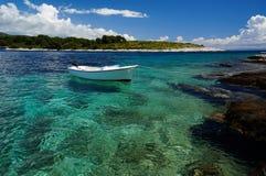 Küste von Paklinski-Inseln, nahe Hvar, Kroatien Lizenzfreie Stockfotos