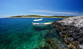 Küste von Paklinski-Inseln, nahe Hvar, Kroatien Lizenzfreie Stockbilder