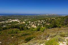 Küste von Rhodos Stockfoto