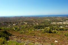 Küste von Rhodos Lizenzfreies Stockfoto