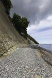 Küste von Rugen-Insel, Nationalpark Jasmund, Mecklenburg Deutschland lizenzfreies stockfoto
