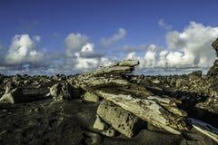Küste von Süd-Island stockfotos