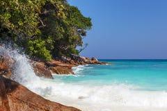 Küste von südlichem Meer Lizenzfreies Stockfoto