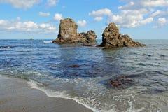 Küste von Sakhalin-Insel Stockbild