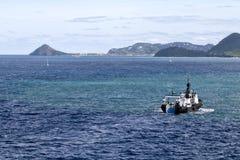 Küste von St Lucia Stockfoto