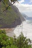 Küste weg von Kauai von Hawaii Lizenzfreie Stockbilder
