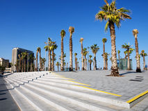 Küstebezirk in Barcelona stockfotografie