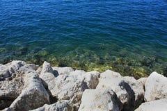 Küsten-adriatisches Meer Stockfotografie