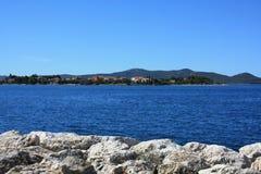 Küsten-adriatisches Meer Stockfoto
