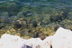 Küsten-adriatisches Meer Stockbild