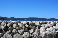Küsten-adriatisches Meer Stockfotos