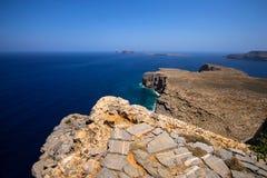 Küsten-Griechenland, schönes Bild von Griechenland stockbild