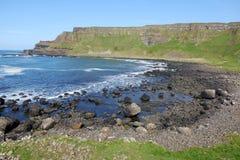 Küsten- Landschaft in Nord-Irland stockbilder