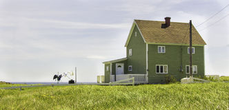 Küsten-Neufundland-Haus stockfotografie