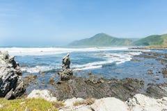 Küsten-Neuseeland lizenzfreie stockfotografie