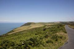Küsten- Straße Nord-Devon-Küste Lizenzfreie Stockfotos