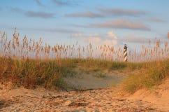 Küsten- Strand-Hintergrund Nord-Caroilna stockfotos