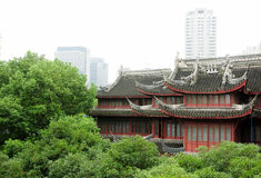 Küsten-White Cloud Temple Shanghai stockfotografie