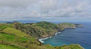 Küstenansicht bei Santa Iria im Sao Miguel Island, Azoren, Portugal Lizenzfreie Stockbilder