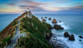 Küstenansicht am Sonnenuntergang Lizenzfreies Stockbild