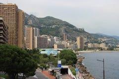 Küstenansicht von Monaco Monte Carlo Stockfotos