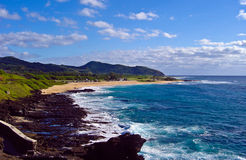 Küstenansicht von Oahu, Hawaii Lizenzfreies Stockfoto