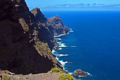 Küstenaussicht der Kanarischen Insel Stockfotografie