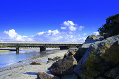 Küstenbrücke Stockfoto