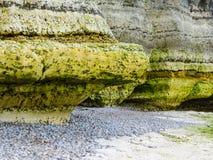 Küstenerosion Etretat, Normandie, Frankreich stockbild