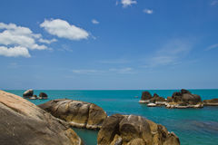 Küstenfelsen-KOH samui Thailand Stockfoto
