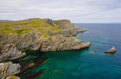 Küstenfelsen in Neufundland lizenzfreies stockfoto