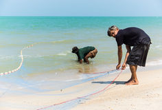 Küstenfischereien Stockfotos